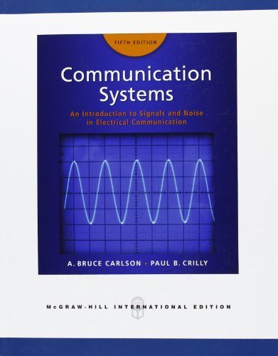 Communication Systems by Carlson, A.Bruce, Crilly, Paul B. (2009) Paperback