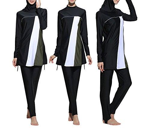 Conservador bañadores de musulmán islámica Bañador para mujer bañadores de Hijab cobertura total...