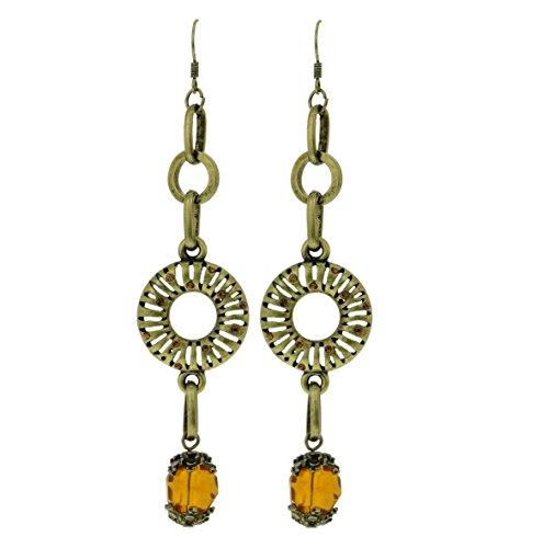 Lange vintage Ohrringe gold farbig - Antikschmuck - gute Geschenkidee