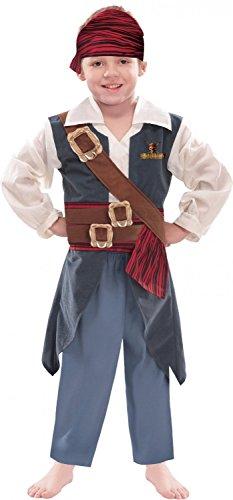 Costume carnevale bimbo pirata jack sparrow disney *22647-5/6 anni
