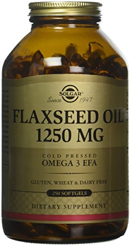 Solgar Flaxseed Oil Supplement, 1250 mg, 250 Count by Solgar