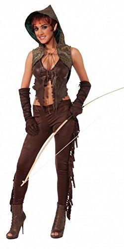 Damen-Kostüm Elfen-Jägerin Gr. 34-38 Elfe Kriegerin Robin Hood (Jägerin Kostüm)