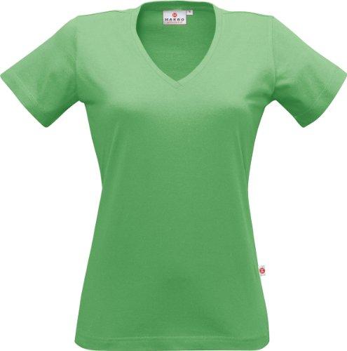 "HAKRO Damen V-Shirt ""Classic"" - 126 - apfelgrün - Größe: XL (Frauen Apfel T-shirt)"