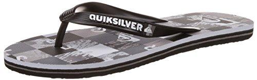 QuiksilverMolokai Check R M Sndl Xksw - Sandali infradito Uomo , Grigio (Gris (Black/Grey/White)), 43