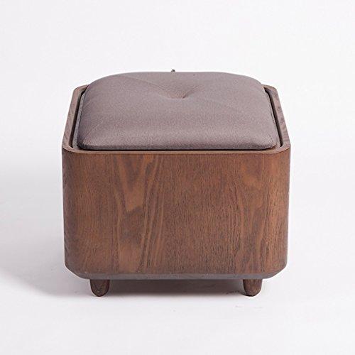 Walnuss Hocker (Hocker Schwarz Walnuss Massivholz Schuhe Stoff Lagerung Multi-Funktion kreative minimalistischen Schreibtisch nehmen Baby- & Kindermöbel (Color : Purple))