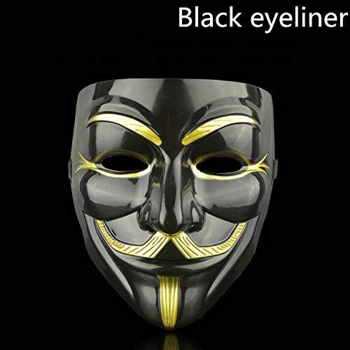Kostüm Rorschach Cosplay - AMSIXP Maske 1pcs Party Masken Für Vendetta Maske Anonyme Phantasie Erwachsene Kostüm Party Cosplay Halloween Masken Schwarzer Eyeliner