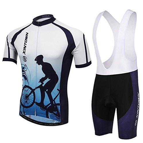 Baymate Unisex Uv-Schutz Atmungsaktiv Kurze Ärmel Fahrrad Triko Set + Shorts Atmungsaktiv Schnell Trocken