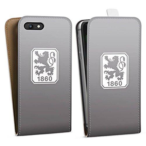 Apple iPhone 6s Silikon Hülle Case Schutzhülle TSV 1860 München Fanartikel Merchandise Zubehör Downflip Tasche weiß