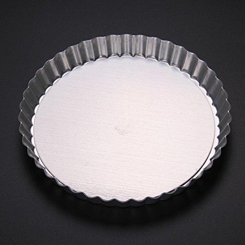 JIAJU 6-Zoll-8-Zoll-Runde live unten Anode Aluminium Pizzablech, Pie Pan Chrysantheme, Backen Form, 8 inch Pie Plate [18087]