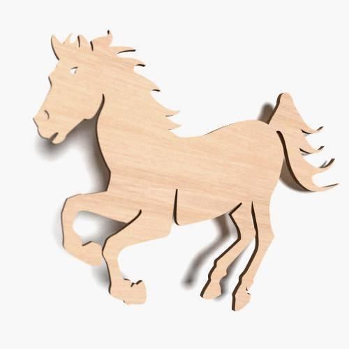 10x kleines Pferd Glück Tier blank Form Holz Basteln Bemalen Aufhängen Dekoration (X4)