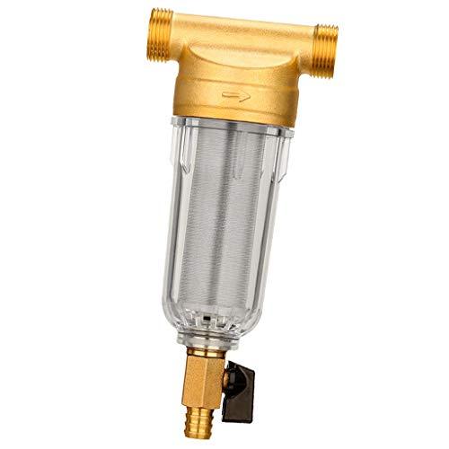 LOVIVER 1/2 \'\'Ganzes Wasserfiltergehäuse Sediment RVS Well Boiler 50 Mikron