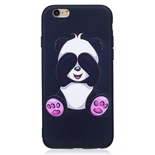 iPhone 6/6S Coque, Voguecase TPU avec Absorption de Choc, Etui Silicone Souple, Légère / Ajustement Parfait Coque Shell Housse Cover pour Apple iPhone 6/6S 4.7 (papillon d'or 01)+ Gratuit stylet l'écr Panda 08