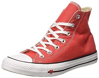 Converse Women's Textile Sedona Red/Black/White Sneakers-7 UK/India (40 EU) (8907788162611)