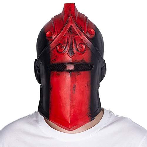 Für Kostüm Schädel Erwachsenen Ritter - VAWAA Halloween Cosplay Kostüm Requisiten Spiel Schwarz Ritter Maske Nacht Schlacht Latex Maske Für Maskerade Dress Up