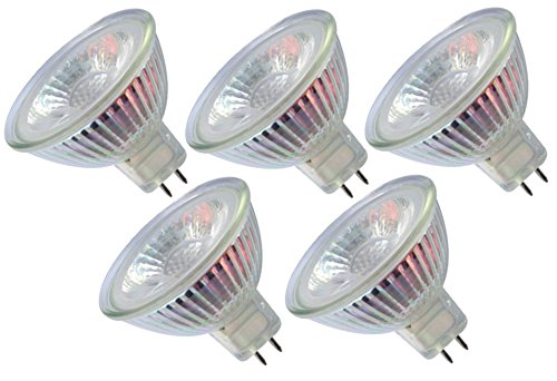Trango 5er Set LED Leuchtmittel mit MR16 Fassung 5TGMR16-NT3 zum Austausch von herkömmlichen Halogen Leuchtmittel MR16 I GU5.3 I G4-12 Volt 3000K warmweiß Glühlampe, Lampe, Reflektorlampe, led Birnen 9v-lampe