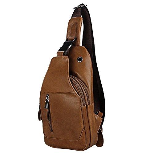 penao Oblique masculine span Baotou cuir paquet travées obliques poitrine hommes de sac cuir de vachette poitrine sac