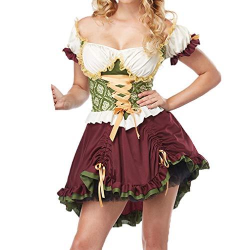 Kostüm Schwedischen Mann - MEIHAOWEI Halloween Hündin Oktoberfest Schwedisches Bier Mädchen Sexy Kostüm Damen Dirndl Servierhündin Bayerisches Bier Oktoberfest Kostüm