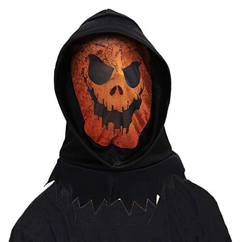 Domire 1 Pc Kürbis-Maske Für Halloween-Partei-Kostüm-Dekorationen Horrific Dämon Erwachsene Maske Scary Halloween-Partei-Kostüm Creepy Maske Festival Props (Kürbis)