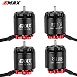 Crazepony-UK 4PCS EMAX RS1108 5200KV Brushless Motor 2S for 90 100 110 120 Micro FPV Racing RC Drone Multirotor Quadcopter