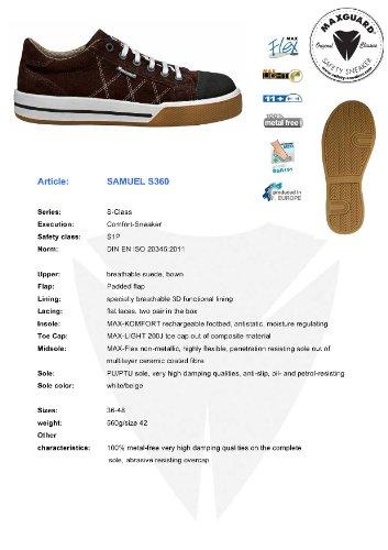 Maxguard , Chaussures de ville à lacets pour homme Marron Marron Marron - Marron