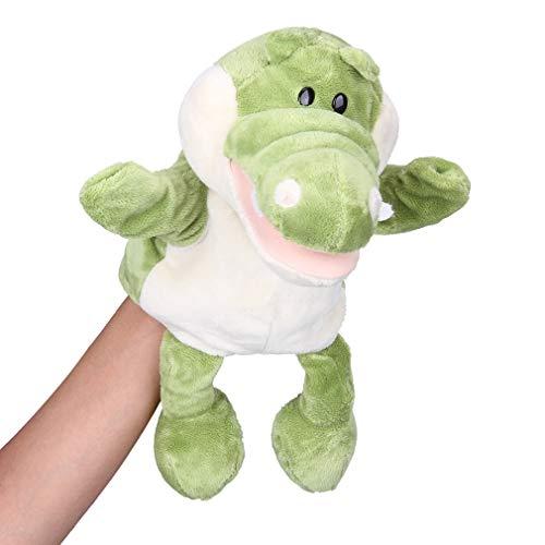 YiyiLai Liebe Kinderspiel Kinderspiel Handspielpuppe Handpuppe Mini Cartoon Handspielpuppe Tier Krokodil Grün