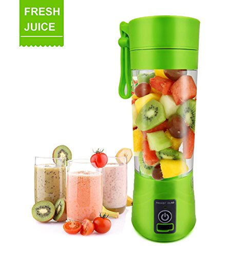 Portable Juice USB Juicer Cup Fruit mixer Personal size Electric Rechargeable Mixer 380ml water bottle with USB Charger Cable