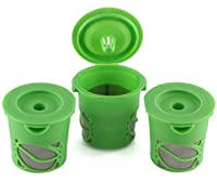 Greenco Reusable K-cups Coffee Filter, Refillable K-cup for Keurig K-cup Brewers - Pack of 3
