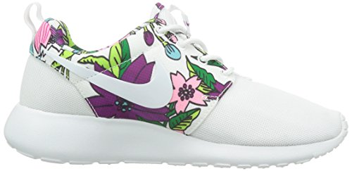 Nike Wmns Rosherun Print, Scarpe sportive, Donna Bianco