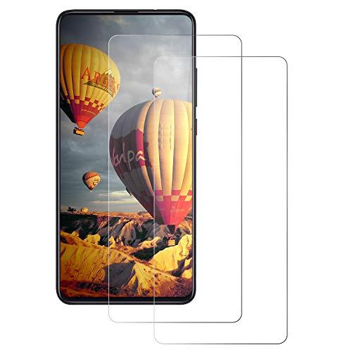 DOSNTO Panzerglas Schutzfolie für Xiaomi Mi 9T, Bildschirmschutzfolie [2 Stück] [wasserdicht] [Anti-Öl][Blasenfrei] [Ultrabeständige Härte 9H] Premium Kristallklar Panzerglasfolie