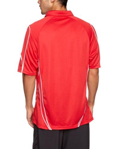 Kooga Rugby Herren Poloshirt Tech Teamwear rot / weiß