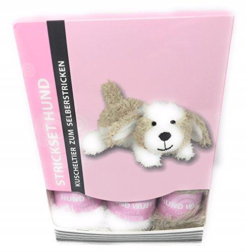 Strickset Hase, Esel, Hund, kpl. Set mit Nadeln und alles was man dazu braucht, (Hund)
