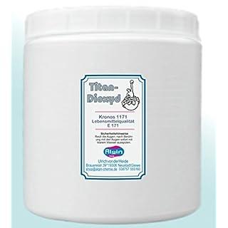 Algin Titandioxid E171 – 500ml – Micropulver Lebensmittelqualität