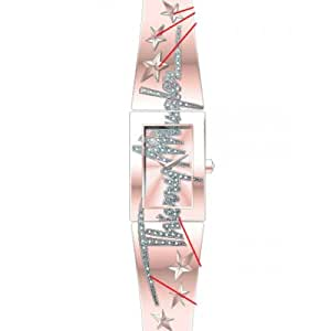 Thierry Mugler - 4719102 - Montre Femme - Quartz Analogique - Cadran Rose - Bracelet Autre Rose