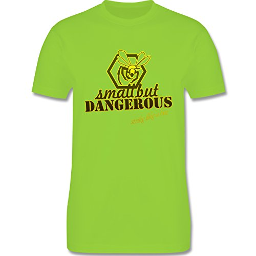 Statement Shirts - Small but dangerous Biene - Herren Premium T-Shirt Hellgrün