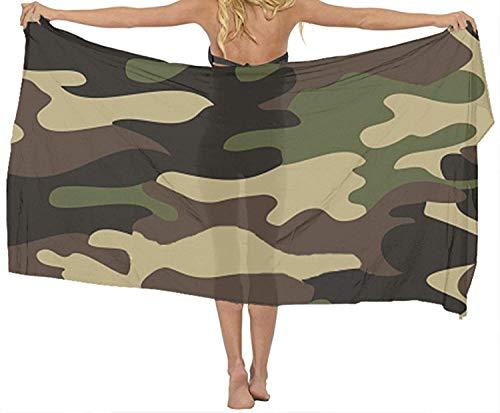 xcvgcxcvasda Badetuch, Soft, Quick Dry, Classic Women's Green Brown Camo Beach Bikini Cover-up,Non-Toxic Decor - Brown Womens Bikini