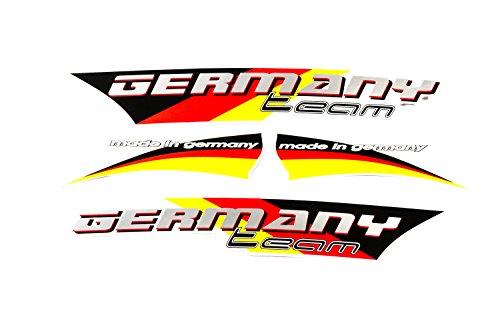 Fahrrad Dekor Satz Aufkleber Rahmen Frame Decal Sticker Team Germany Schwarz Rot Gold Label (Fahrrad Rahmen Aufkleber)