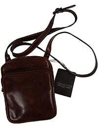 CHIARUGI sac bandoulière–en cuir véritable–23x 17x 7cm