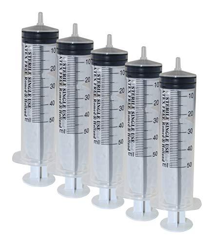 5 Einmalspritzen 50 ml Einwegspritzen Spritzen Plastikspritzen von Romed -