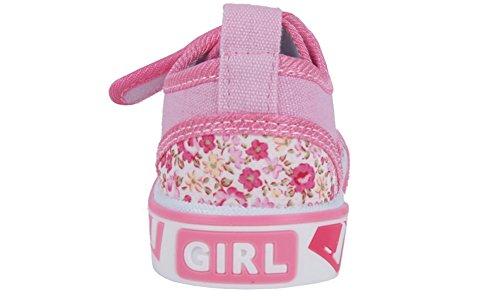 Mädchen Sneaker zur Schule (23054) Licht Rosa