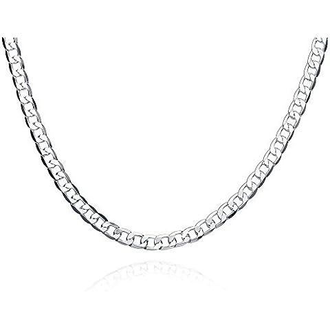 New Fashion NYKKOLA gioielli placcati argento Sterling 925, stile semplice, classico-Collana da uomo