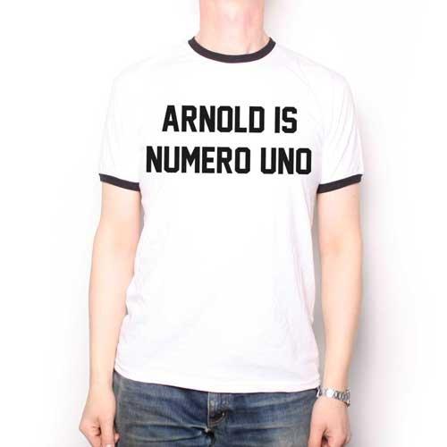 As Worn By Arnold Schwarzenegger T Shirt - Arnold Is Numero Uno