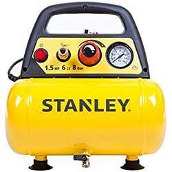 Stanley DN200/8/6 Compresseur régulateur de pression Collage and Accessoires, Jaune