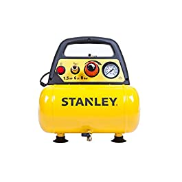 Stanley D 200 Compressore 6 Lt 1,5HP, pressione max 8 bar/116 PS, Rumorosità: 97 dB