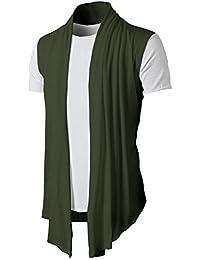 LuckyGirls Camisa Camisetas Originales Hombre Sin Manga Verano Color Puro Cardigan Moda Polos Deportivas Blusa Casuales