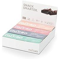 nucao – Mixed Box – Innovativer Superfood-Riegel mit Hanfsamen & Roh-Kakao – Low Carb – Vegan – Bio – Clean Eating – Paleo – 8er Box – Hergestellt in deutscher Rohkostqualität