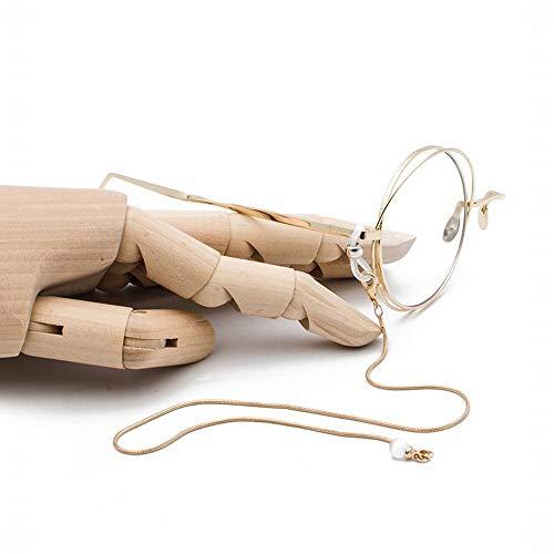 BAACHANG Mode-Halbrahmen-dekorativer einzelner Rand-Glasrahmen mit Kette (Farbe : Golden Chain)