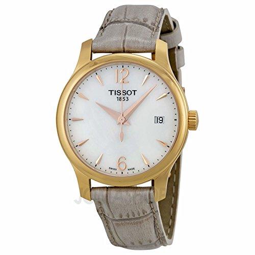 Tissot Tissot T-Trend tradición Madre de Re #l Gris Cuero Damas Reloj T0632103711700