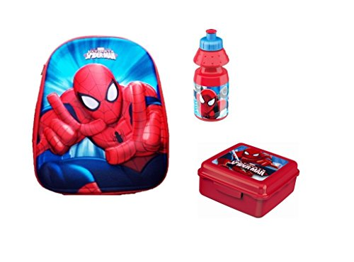 IRPot - SET ASILO SPIDERMAN ZAINETTO (3880) + PORTA MERENDA + BORRACCIA