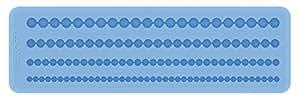 Tescoma 633044 Stampo in Silicone per Pasta di Zucchero, Bordure con Perline