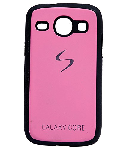 iCandy™ Premium Quality Black Boarder Leather Finish Soft Back Cover For Samsung Galaxy Core I8260 / I8262 - Pink  available at amazon for Rs.165